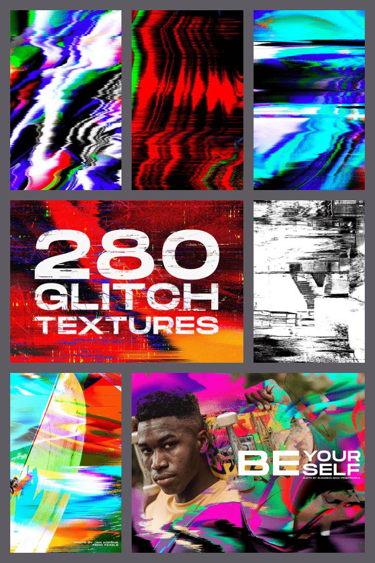 Glitch Distortion Textures.