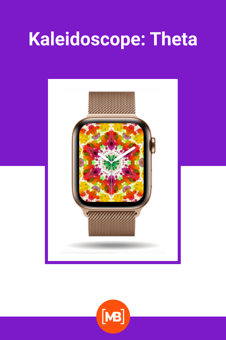 Kaleidoscope on the background of the clock.