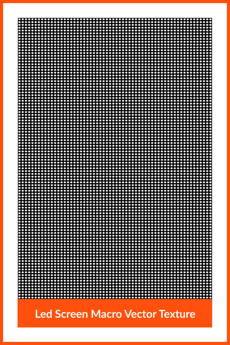 Led Screen Macro Vector Texture.