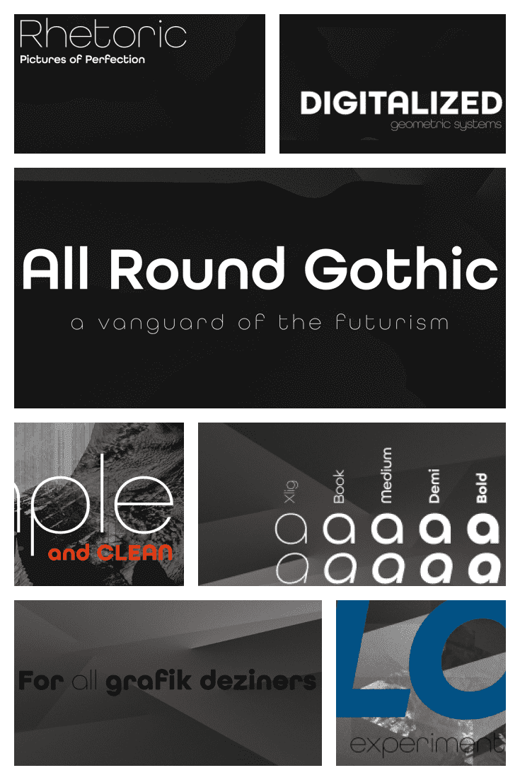 Classic font of different weights. It is versatile and always up-to-date.