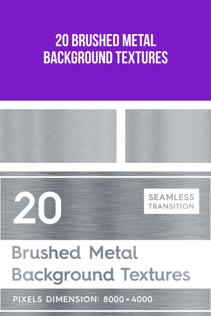 Brushed metal background textures.