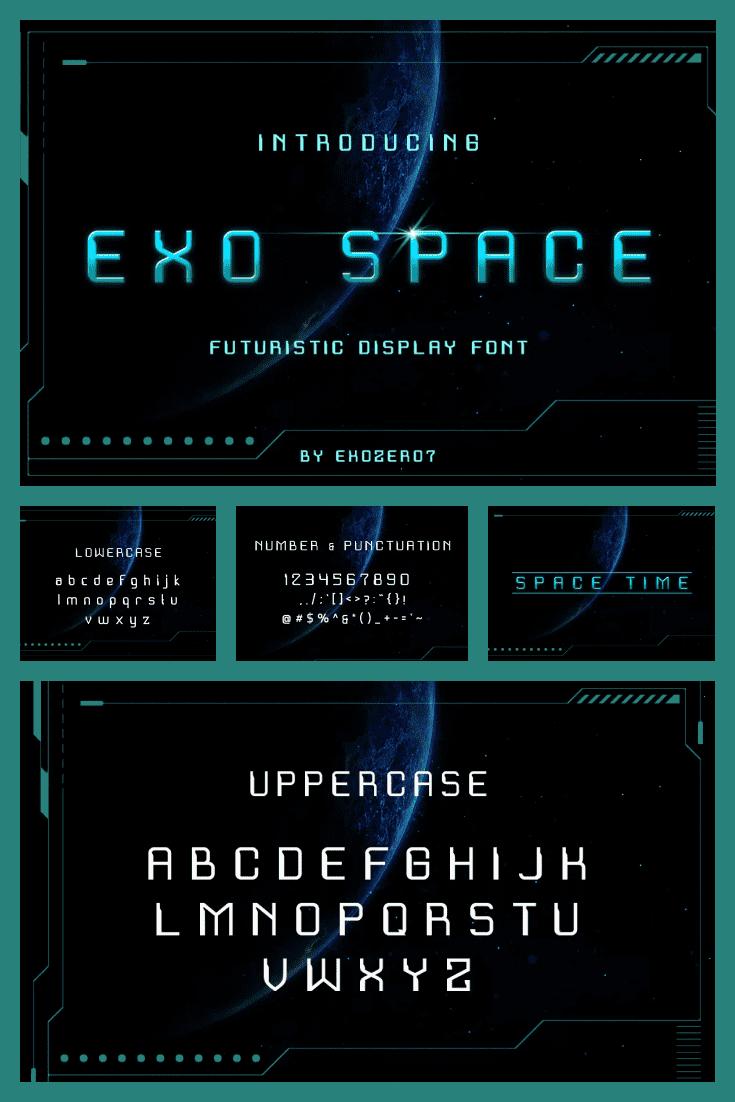A futuristic font to commemorate the apocalypse.