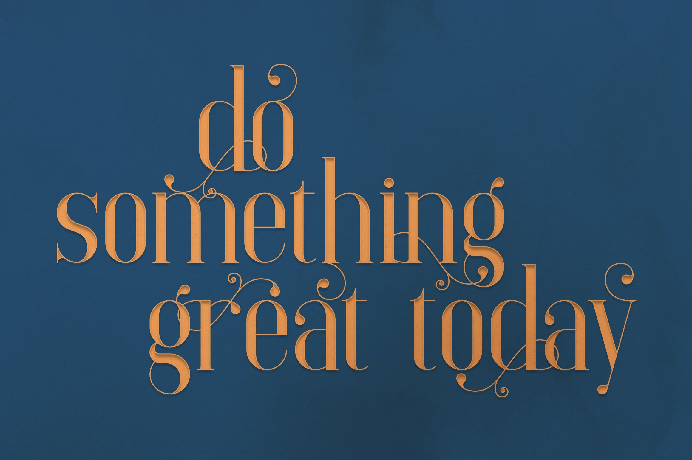 I want to believe a motivating phrase written in such a fabulous font. Elysian - Serif Font.