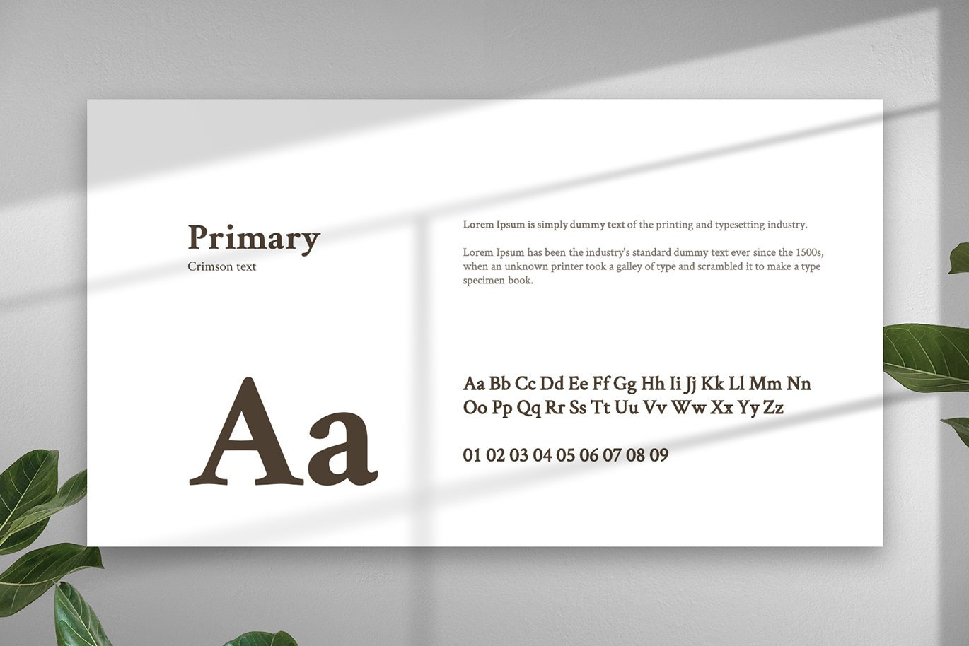 You can choose font which will be looks the best in your presentation.