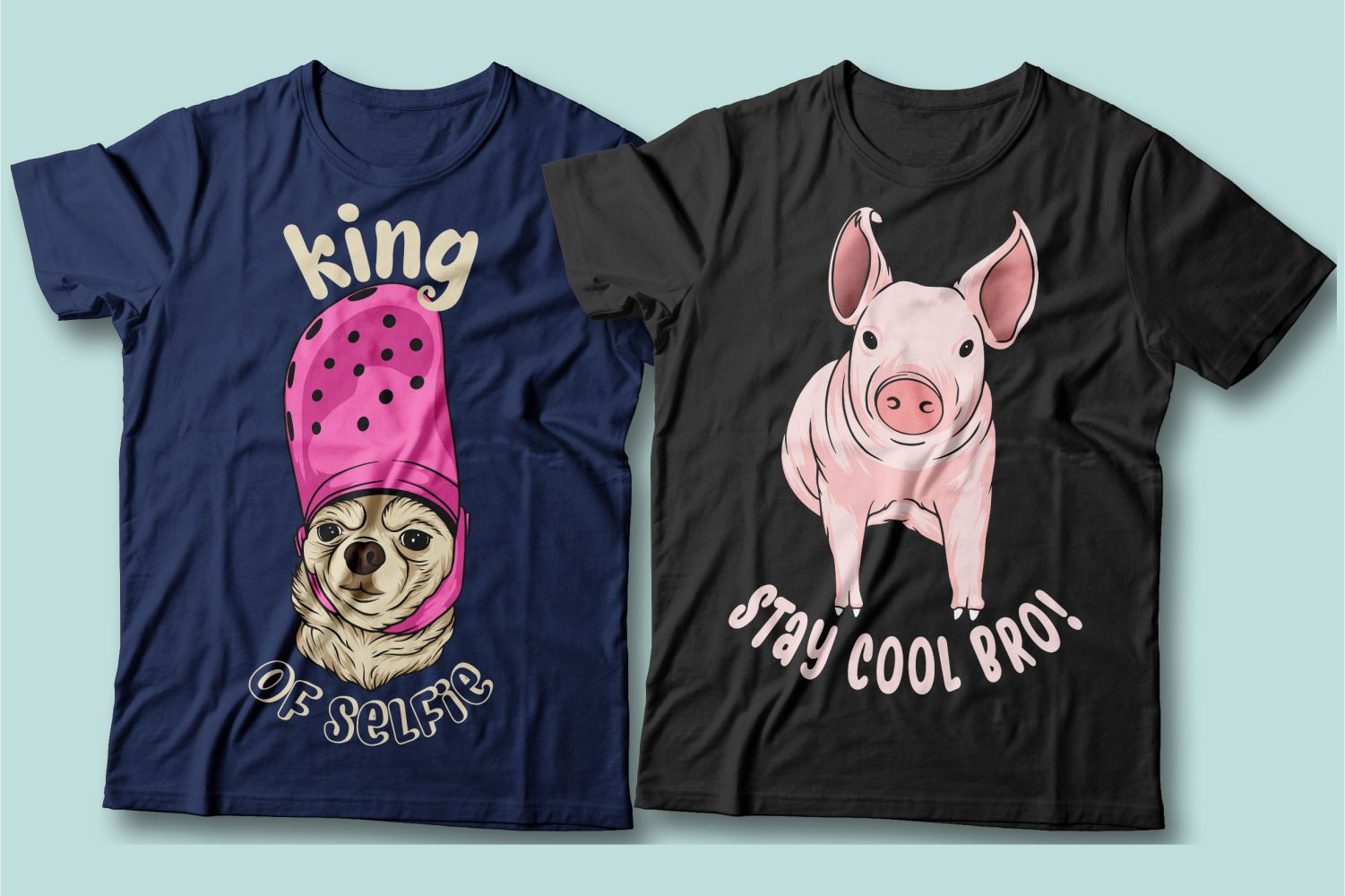 Remain king in any situation. This cute little dog and confident pig is a prime example.