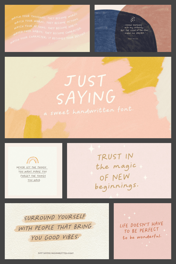 Everything here is about art. Colors, font and soft geometric shapes. This combination creates an incredible template for universal use.