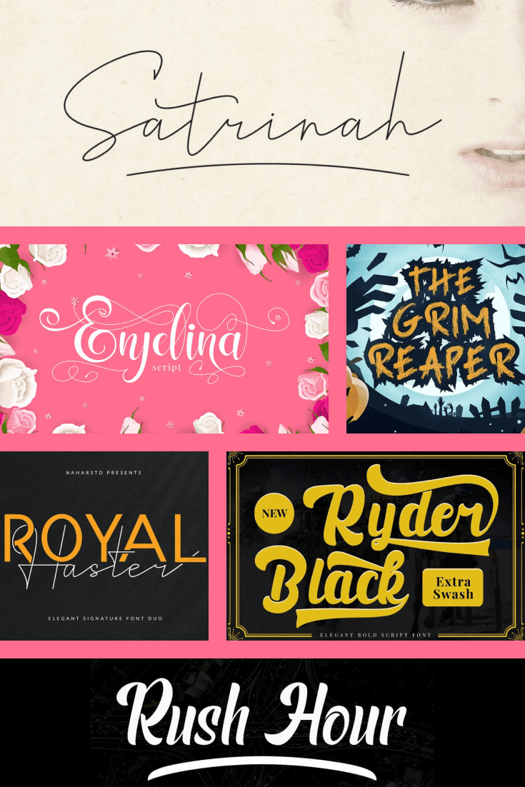 This is a large collection of different fonts for your project.