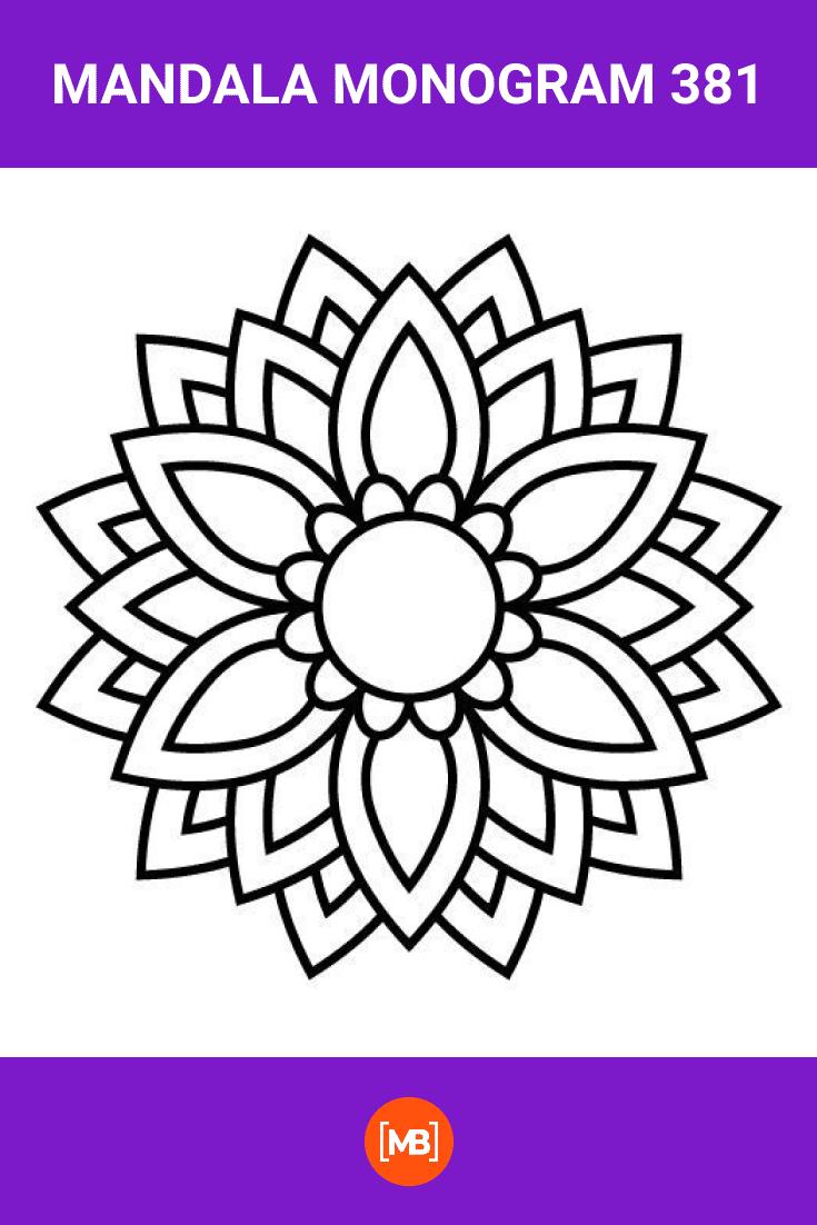 Black mandala in a minimalist style.