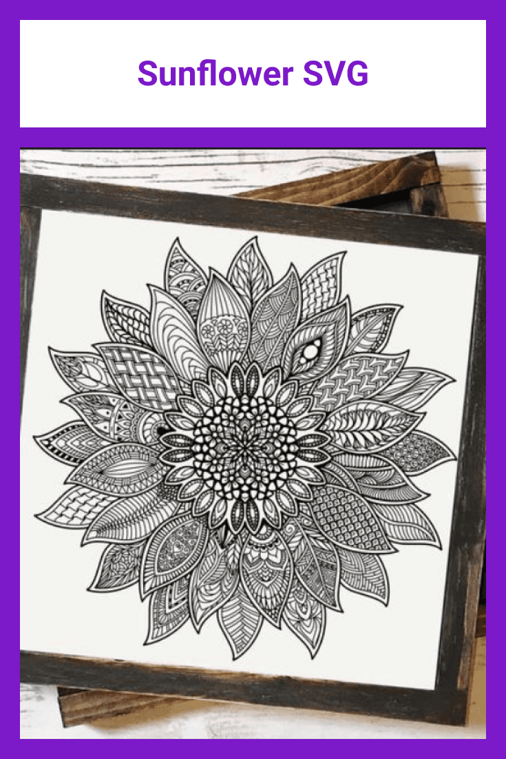 Dark mandala with many accents and geometric shapes inside.