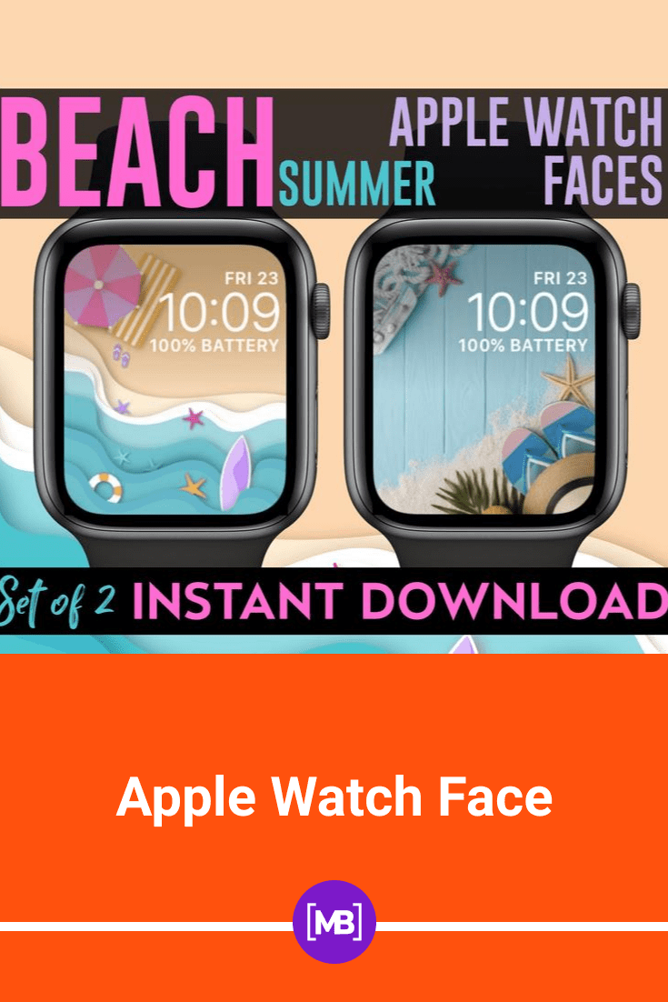 If you want to bring your vacation closer, then set the background of your watch with this sand and beach template.