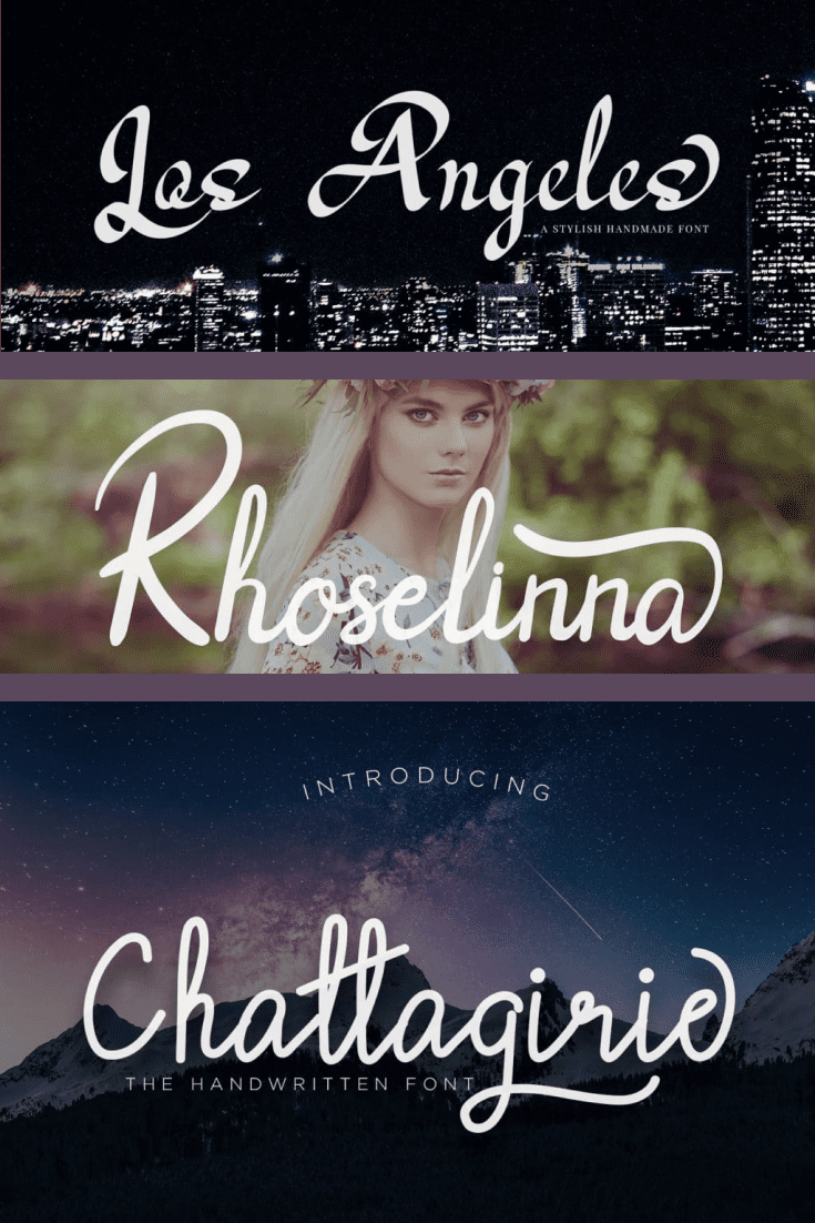 Stylish serif font in a romantic style.