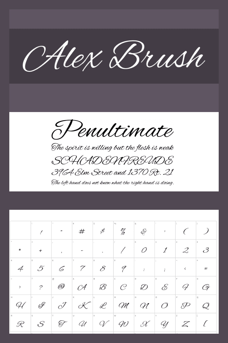 Refined font. A great option for business cards.
