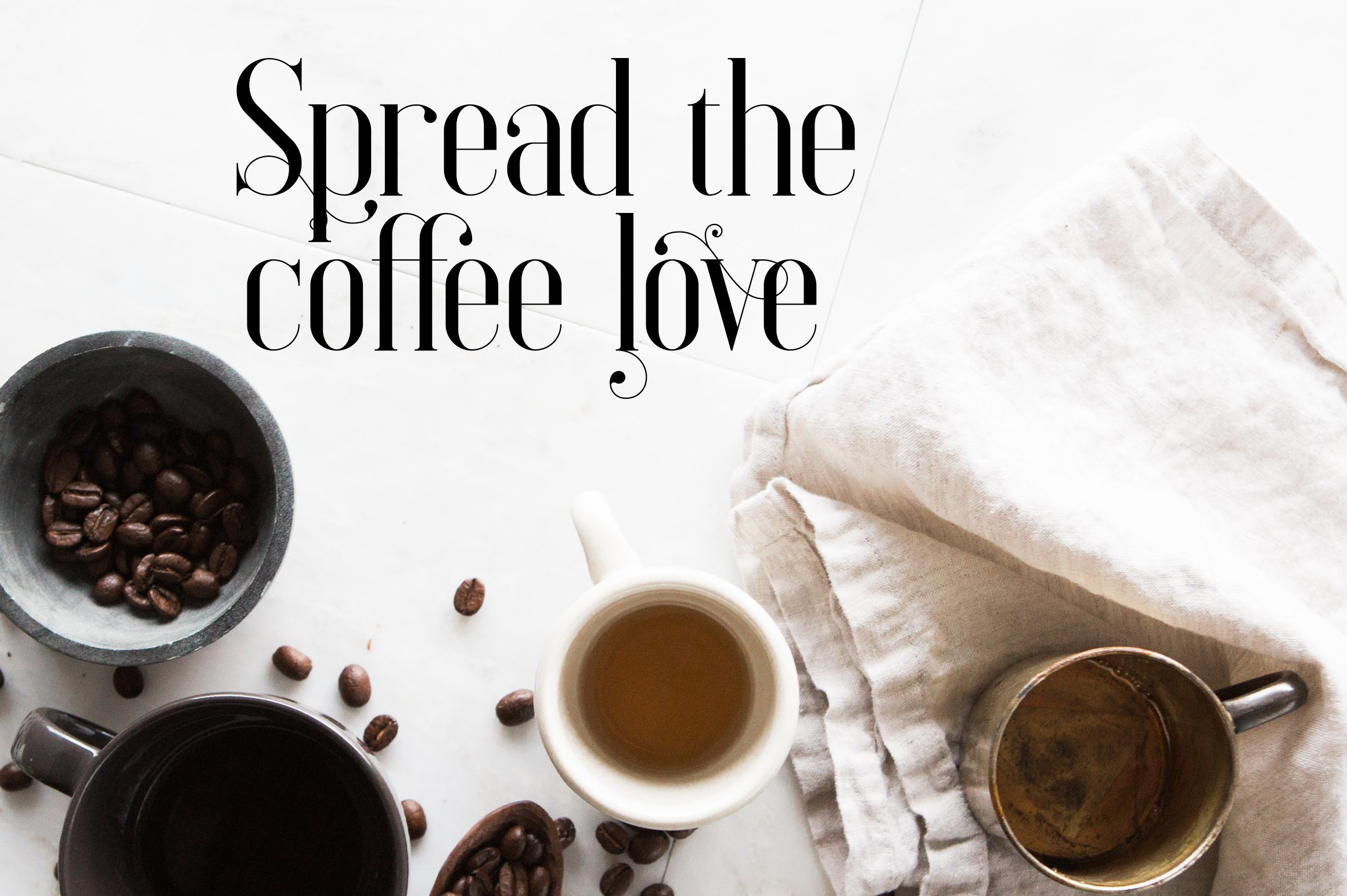 This is coffee time. The soft print adjusts for a relaxed atmosphere. Elysian - Serif Font.