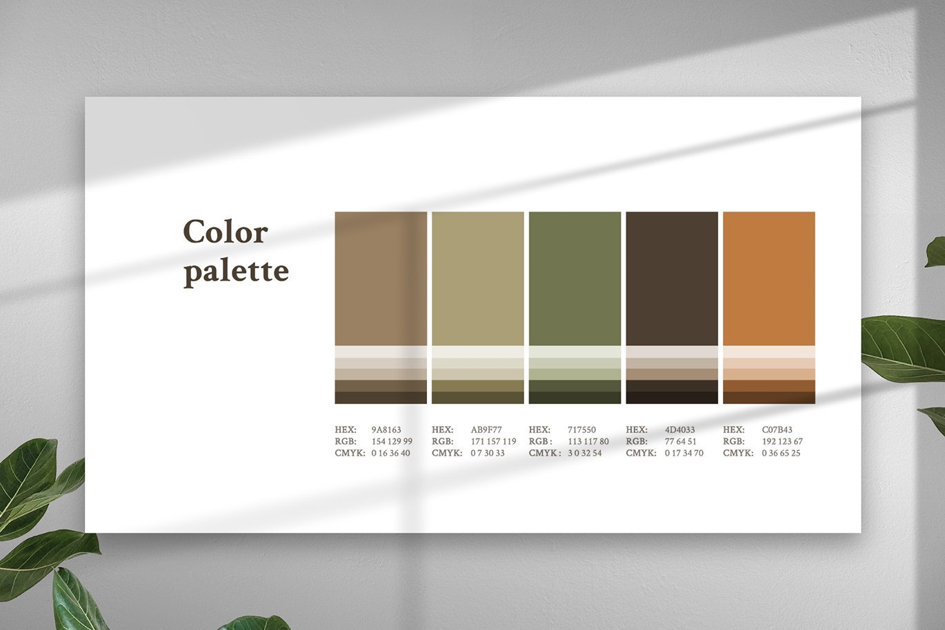 Template design is flexible, so you can customize color and elements in your style.