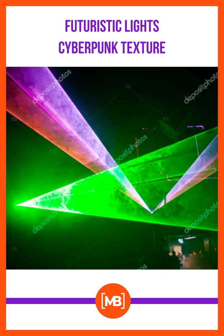 Futuristic Lights Cyberpunk Texture.