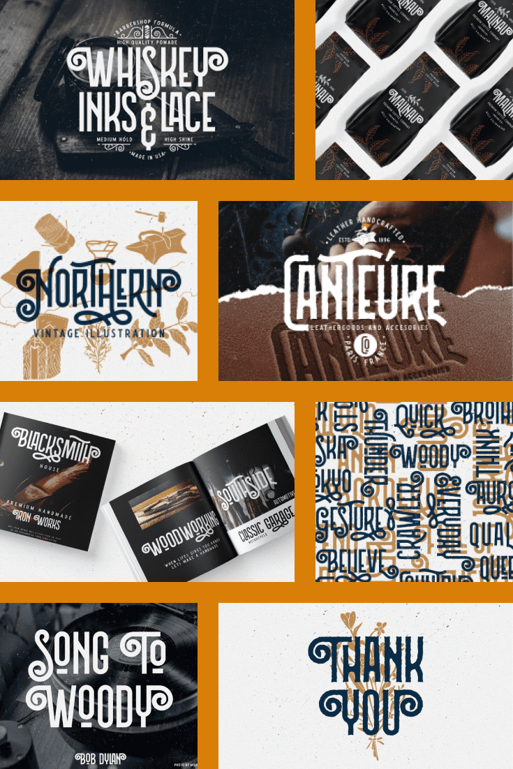 Great font for tattoos, textures and as a logo. Has a Scandinavian touch and a nod to the Viking style.