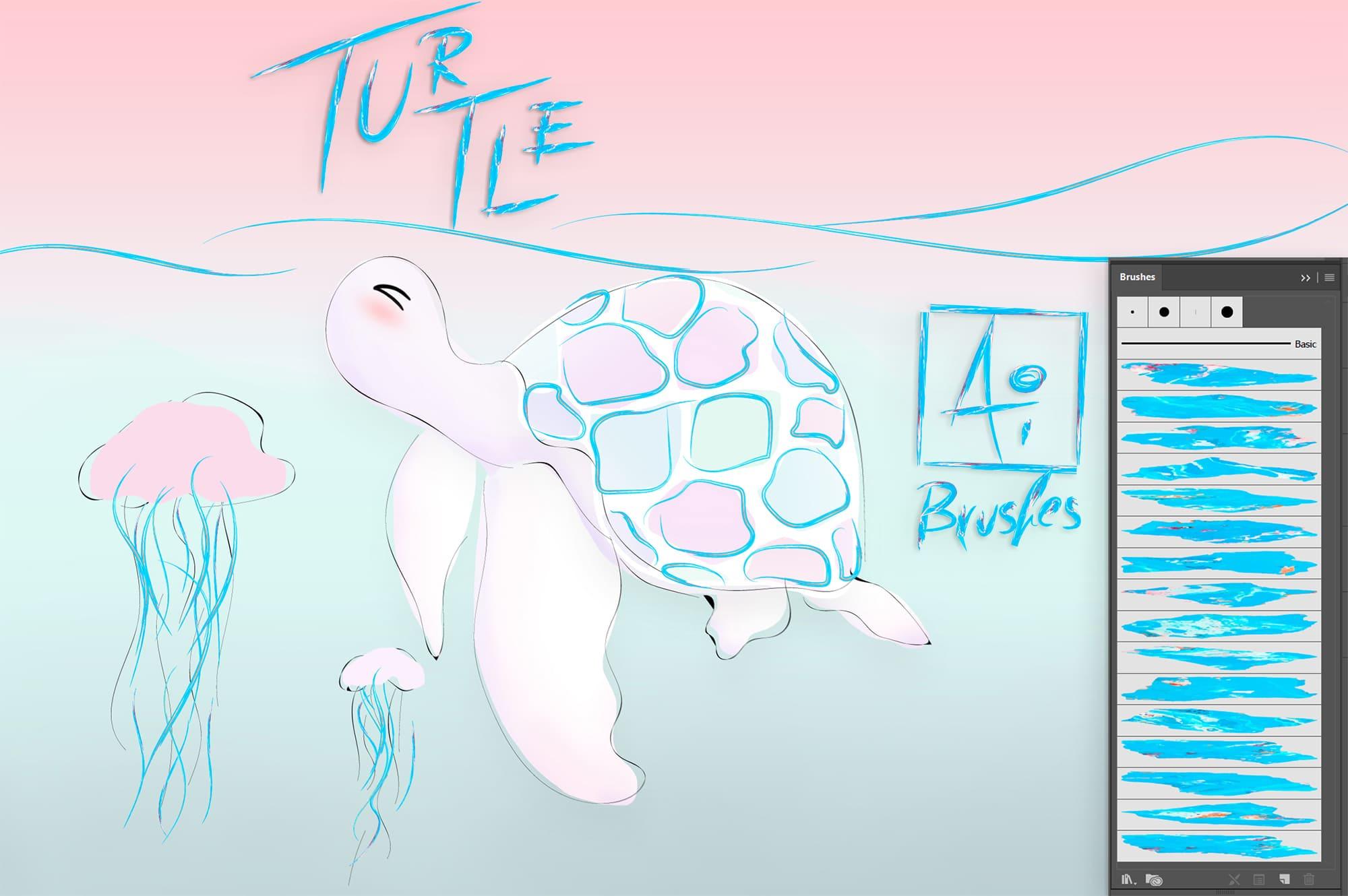 Colored turtle.