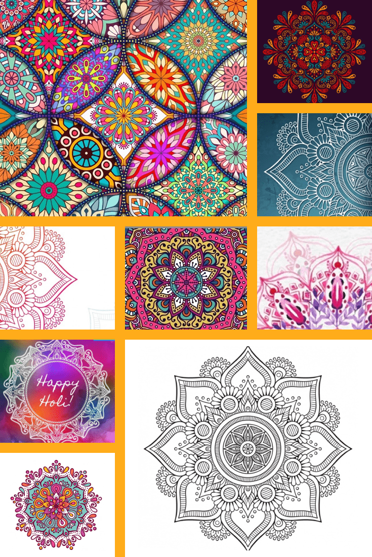 LBright mandala with colorful details. Such a design will definitely bring good luck.></p> <div style=
