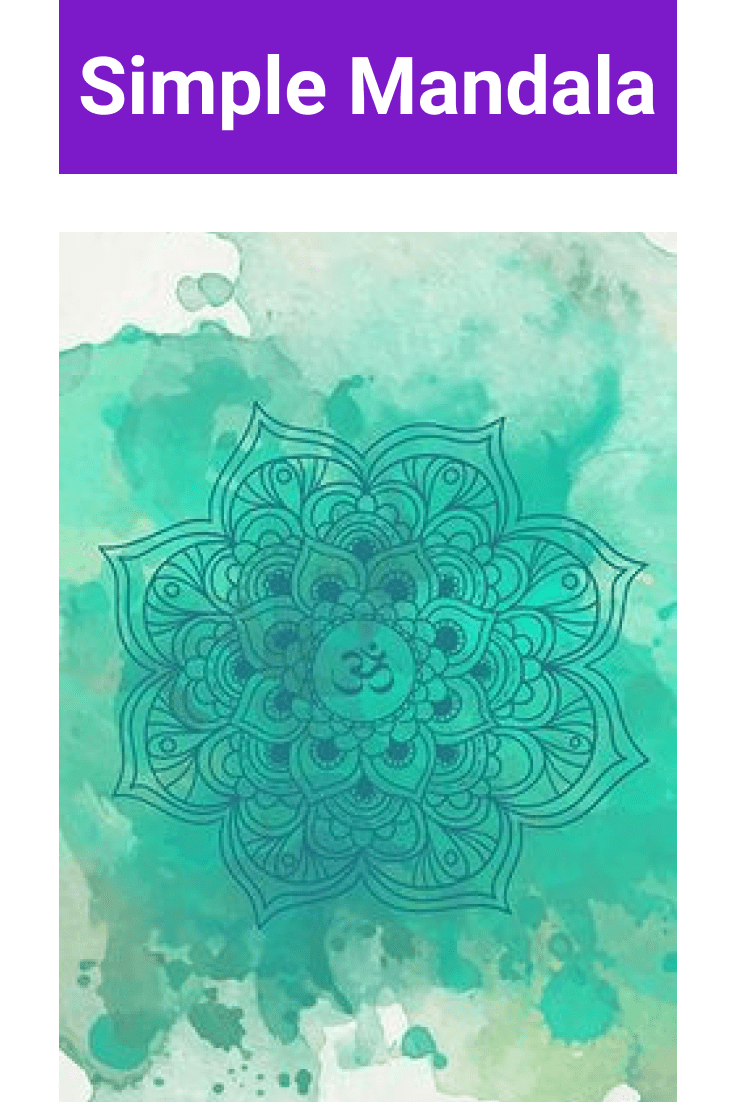 The design is very stylishly implemented. Here is a mandala against a background of acrylic paints.