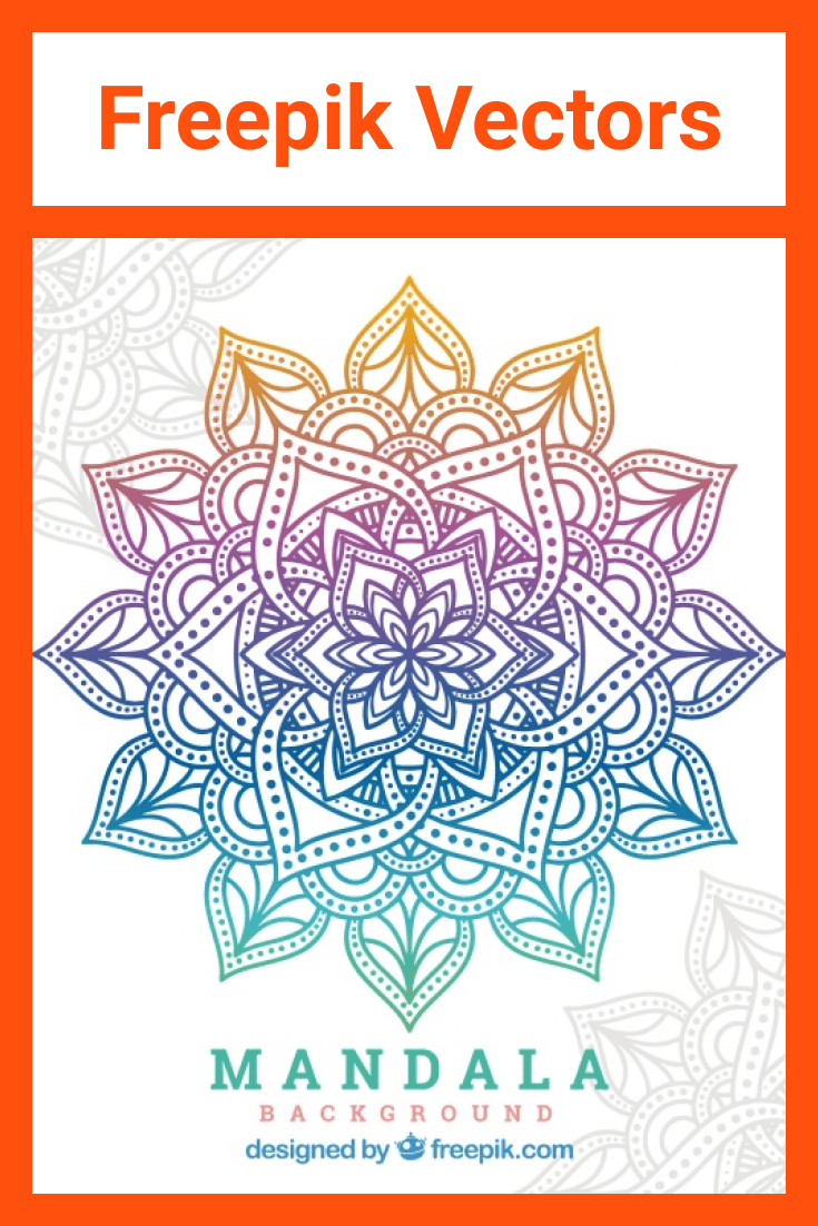 Mandala with gradient color. Looks very dignified and stylish.