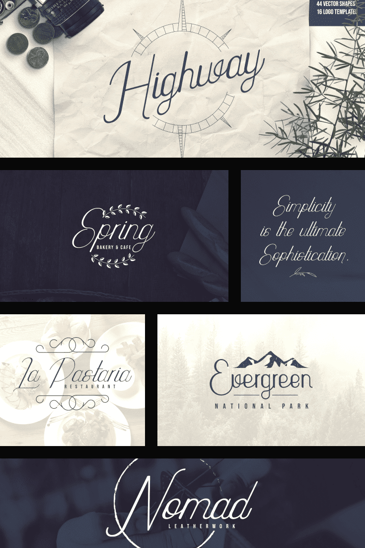 Thin lines, soft corners. This font creates an atmosphere of aristocracy and etiquette.
