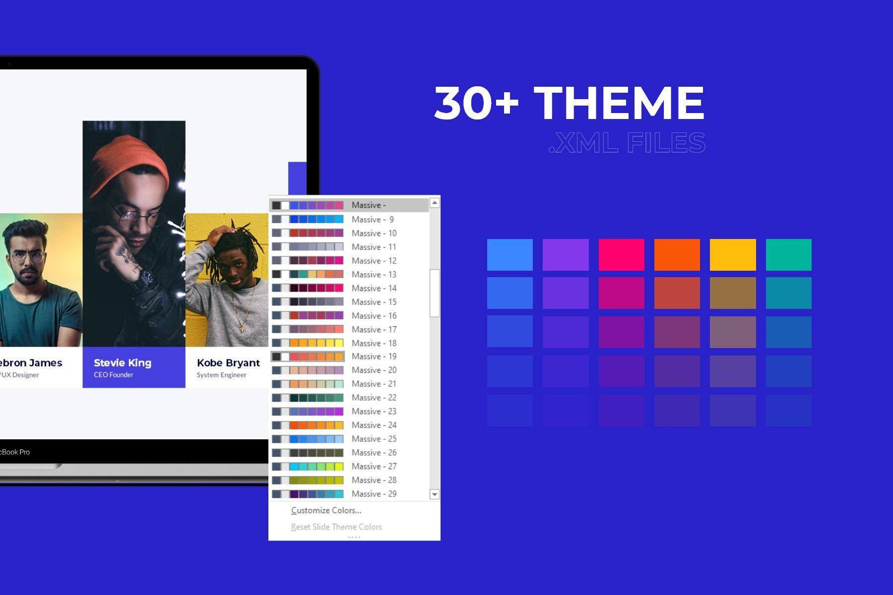 Different color variant of theme.