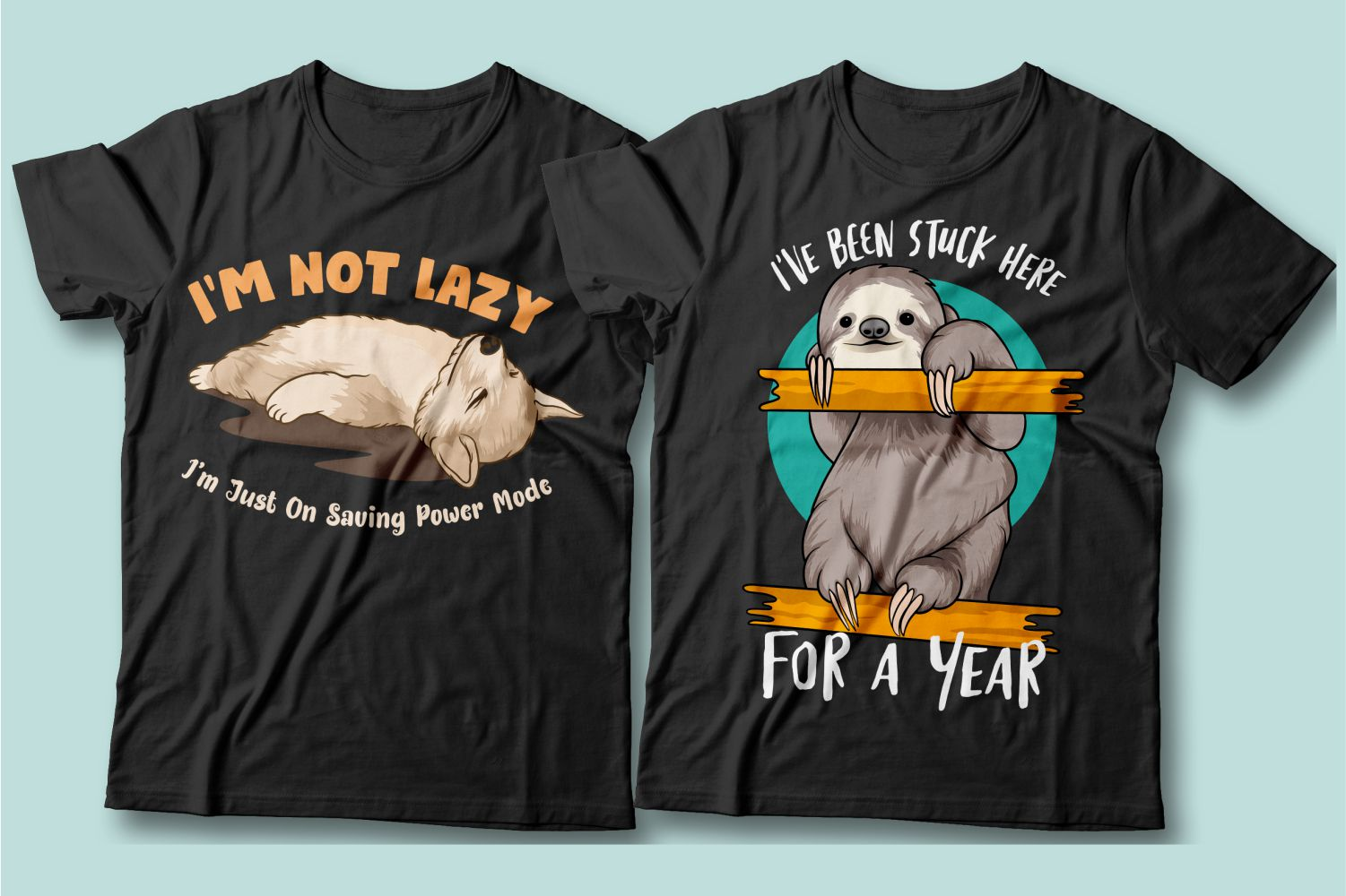The sloth animal and the lazy cat seem to be from the same species.