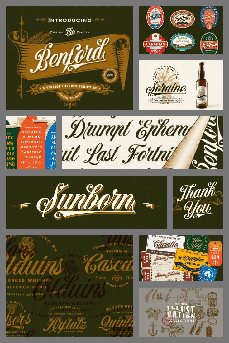 A simple typeface originally from a Wild West bar. It smelled of rum and cowboys.