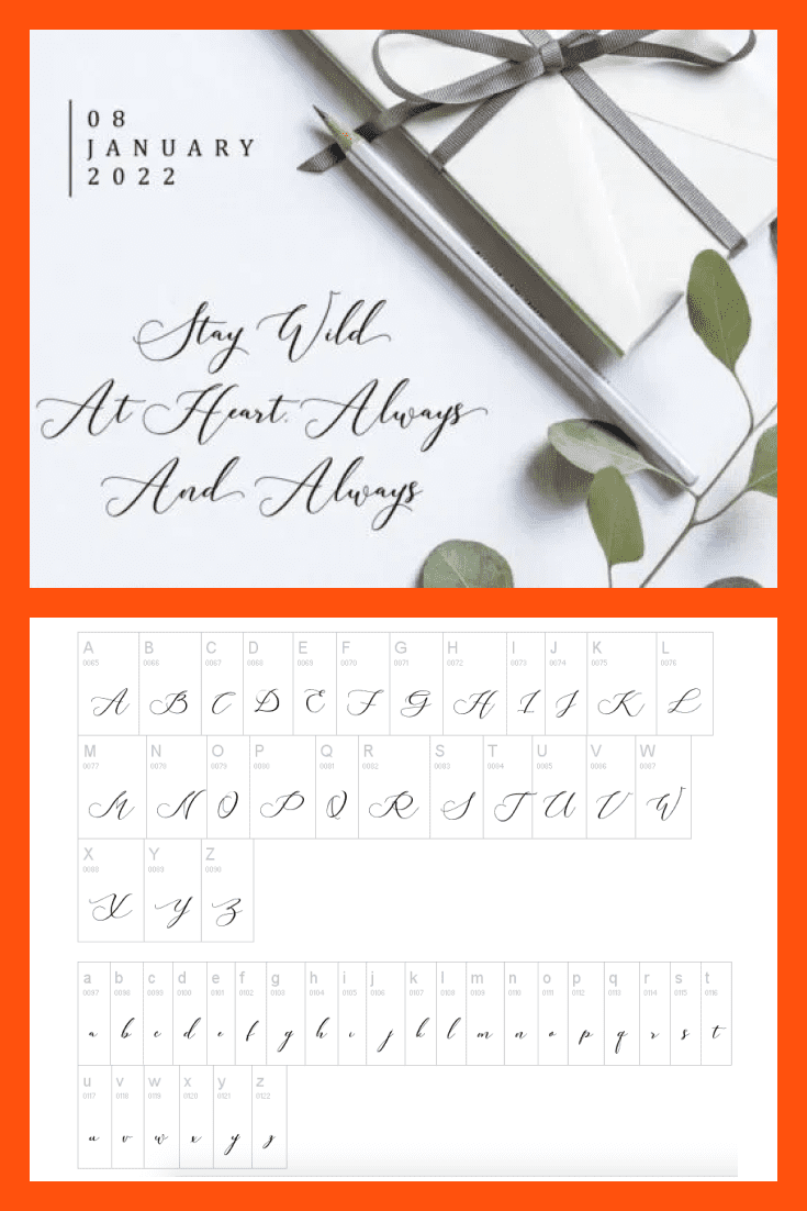 A delicate font would be a great option for wedding invitations.