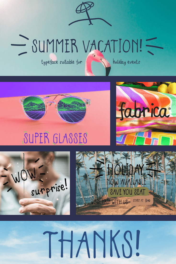 If you want a taste of summer and relaxation, just look at this font.