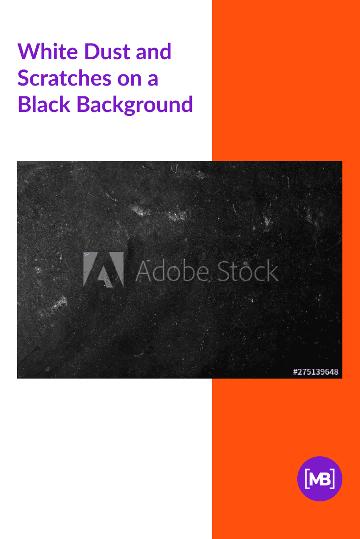 White Dust and Scratches on a Black Background.