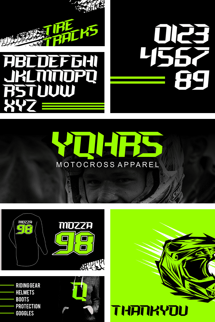 Neon is in vogue. This font is about formula 1. About speed and strength.