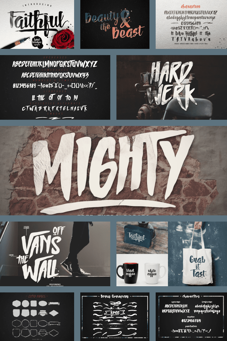 The font is similar to the Vans logo. Daring and casual.