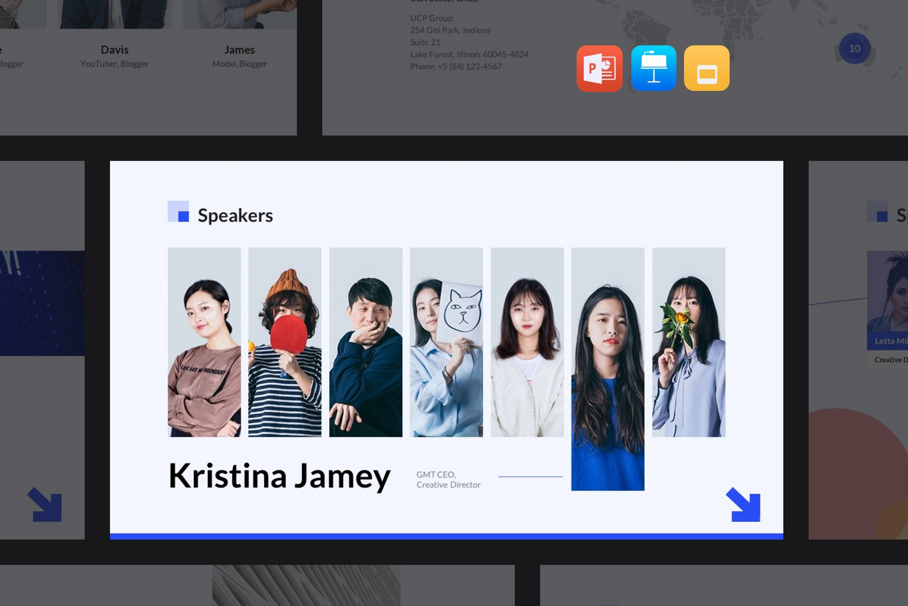 In an interactive format, you showcase the speakers.