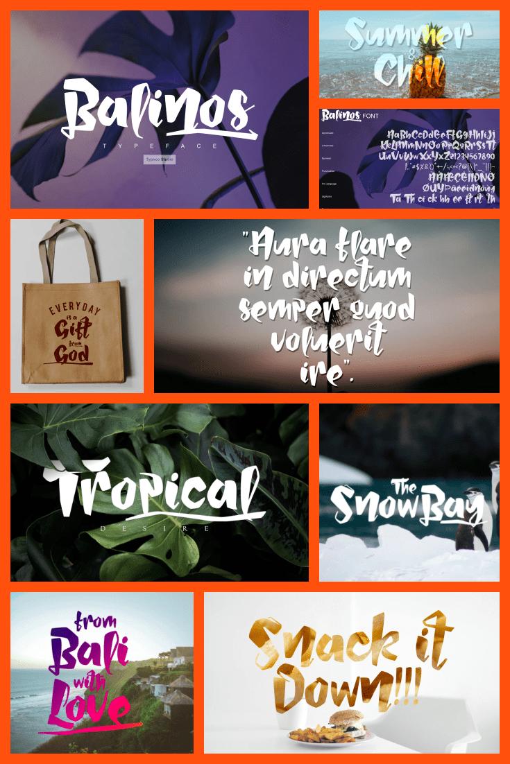 Tropical style font. He's like a native of Brazil - hot and seasoned.