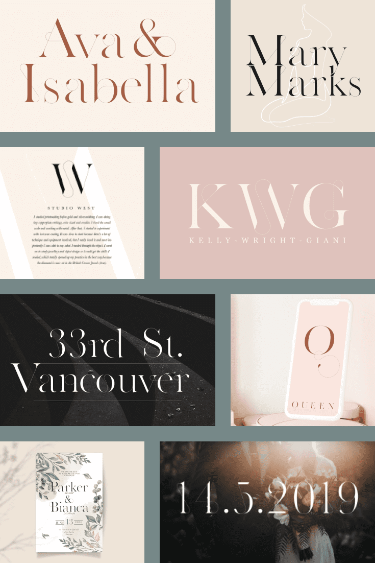 Delicate vintage typeface came to us after the debutante ball.
