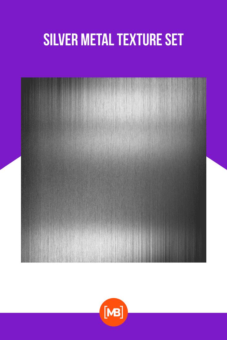 Silver metal texture set.