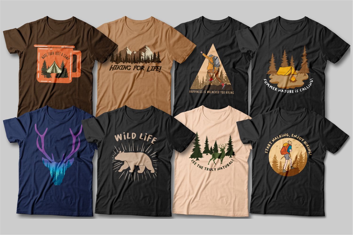 Better than mountains can only be mountains. These T-shirts are about the unconditional love of nature and hiking.