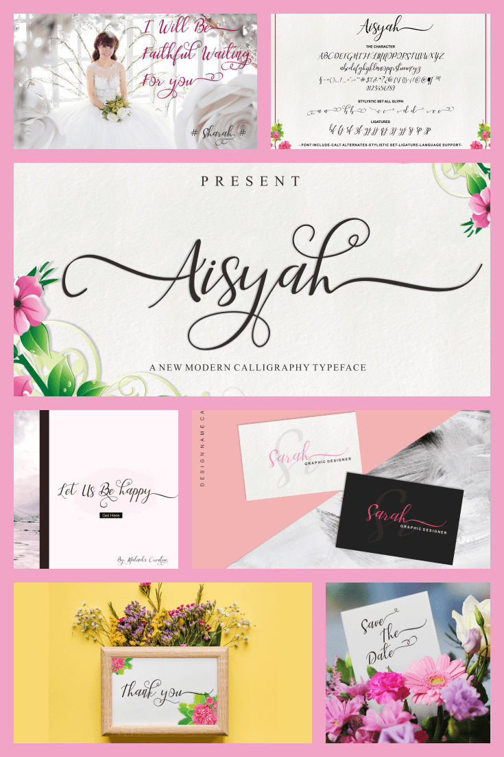 Floral, light and festive. This font is as sophisticated as a porcelain figurine.