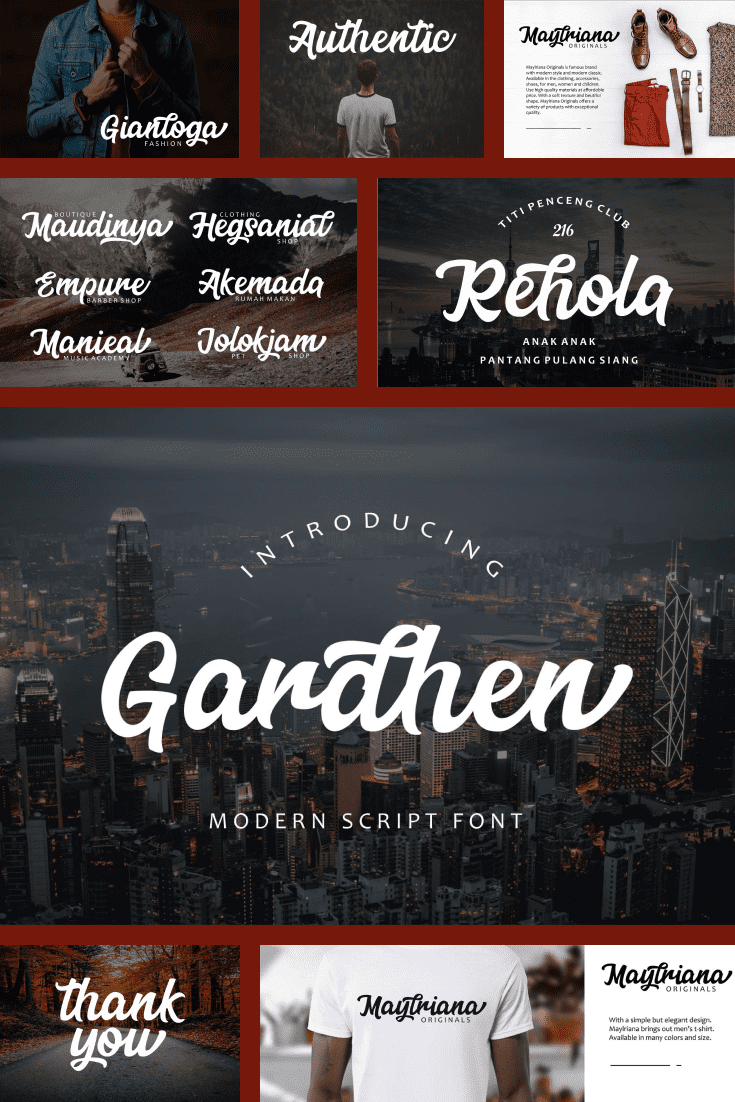 A font that confesses its love to the big city, evening walks and local bars.
