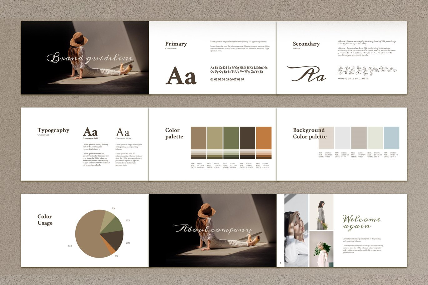 Unusual style and pastel colors will make your presentation unique.
