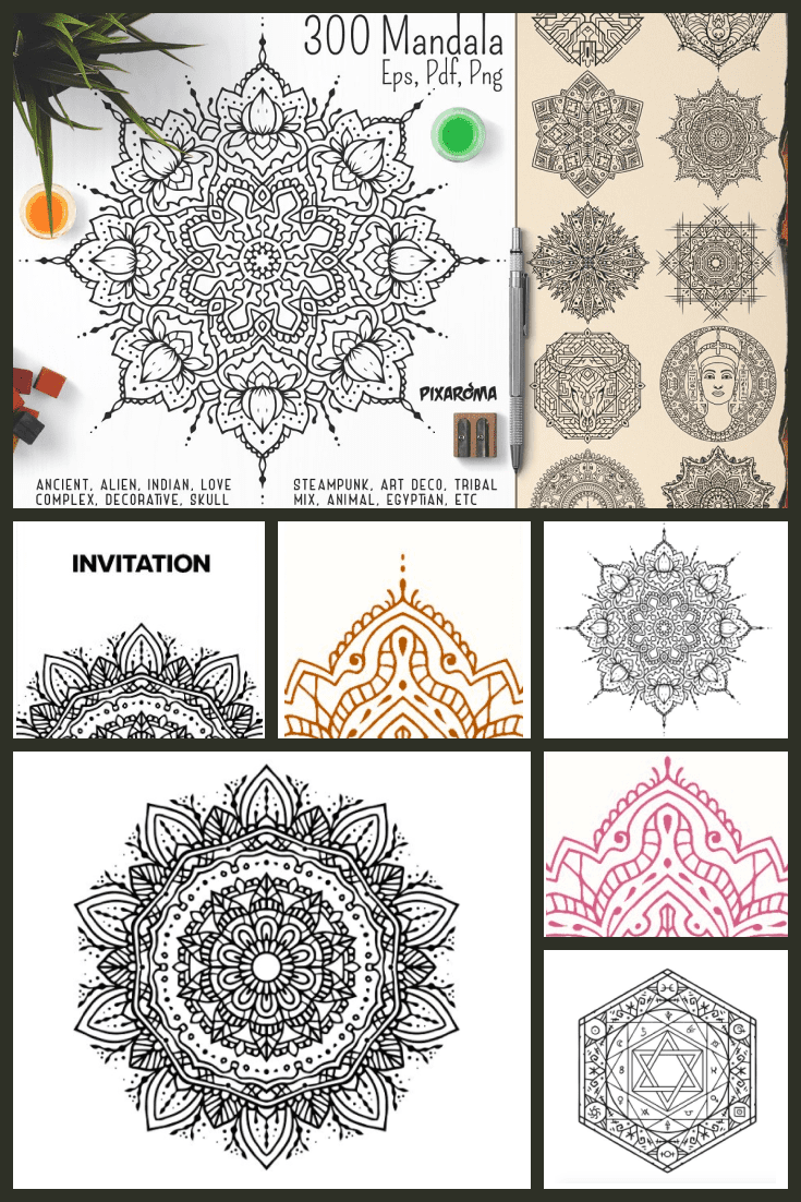 Delicate work to create the mandala. Very exquisite lines create the perfect picture.