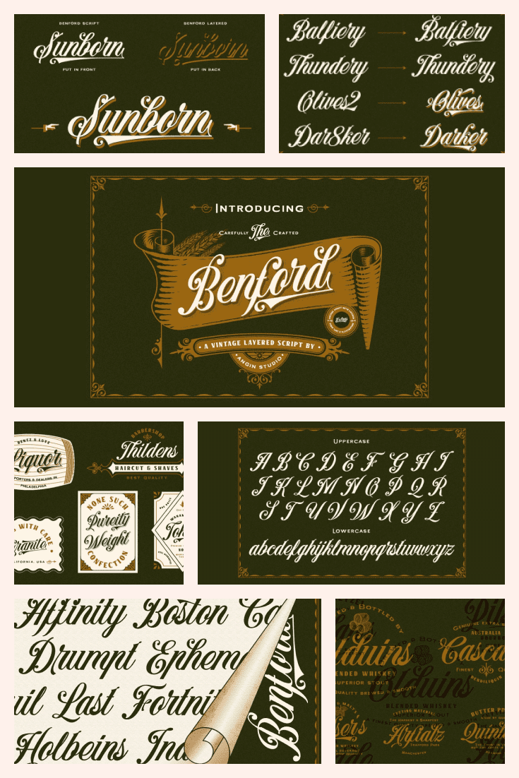 The beautiful, well-worn typeface looks like the signature of some well-to-do tycoon.