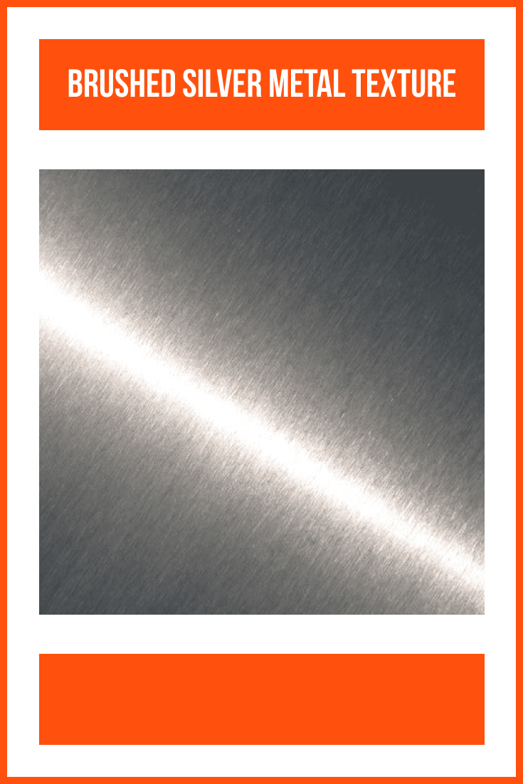 Brushed silver metal texture.