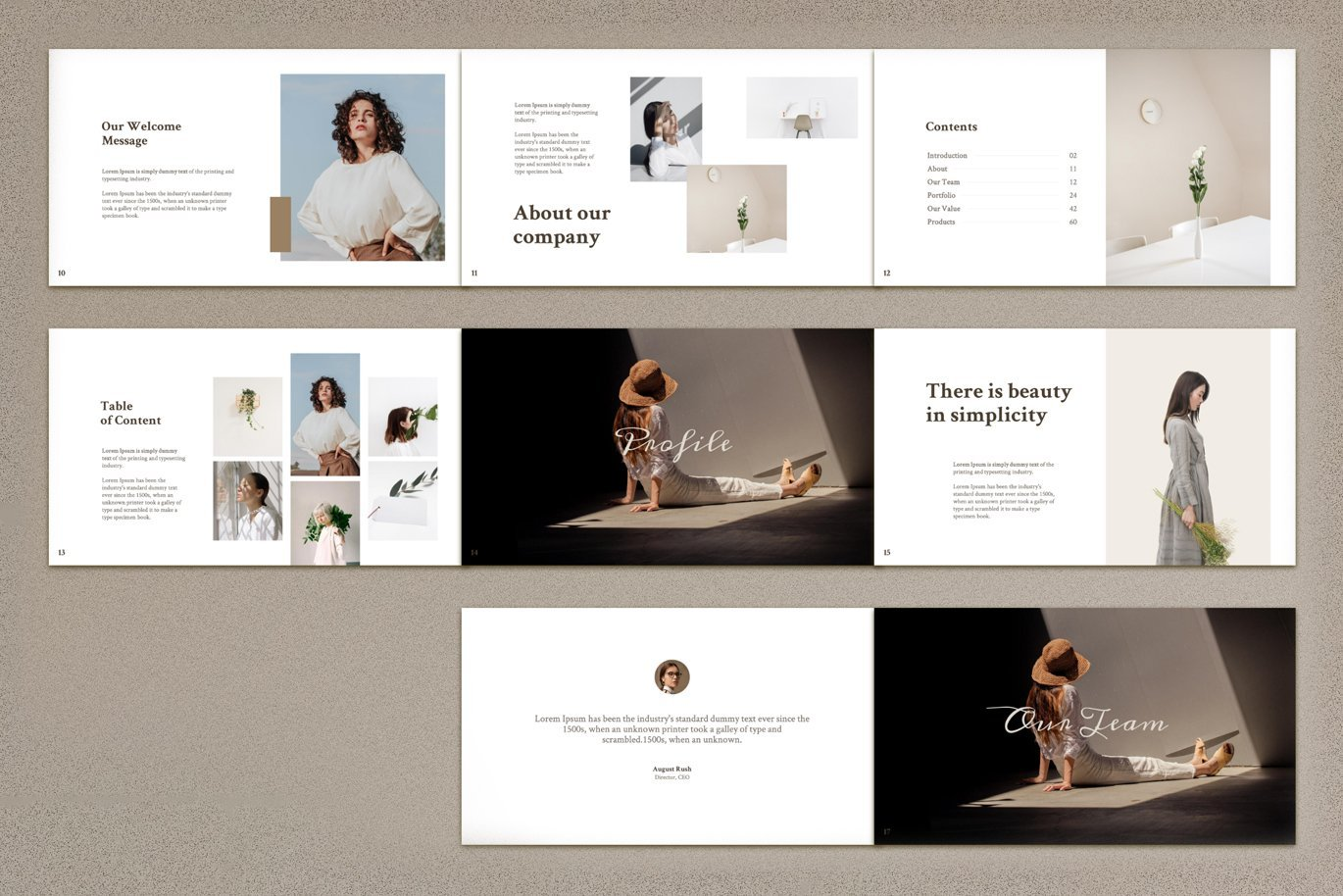 Its a laconic template for small presentation.