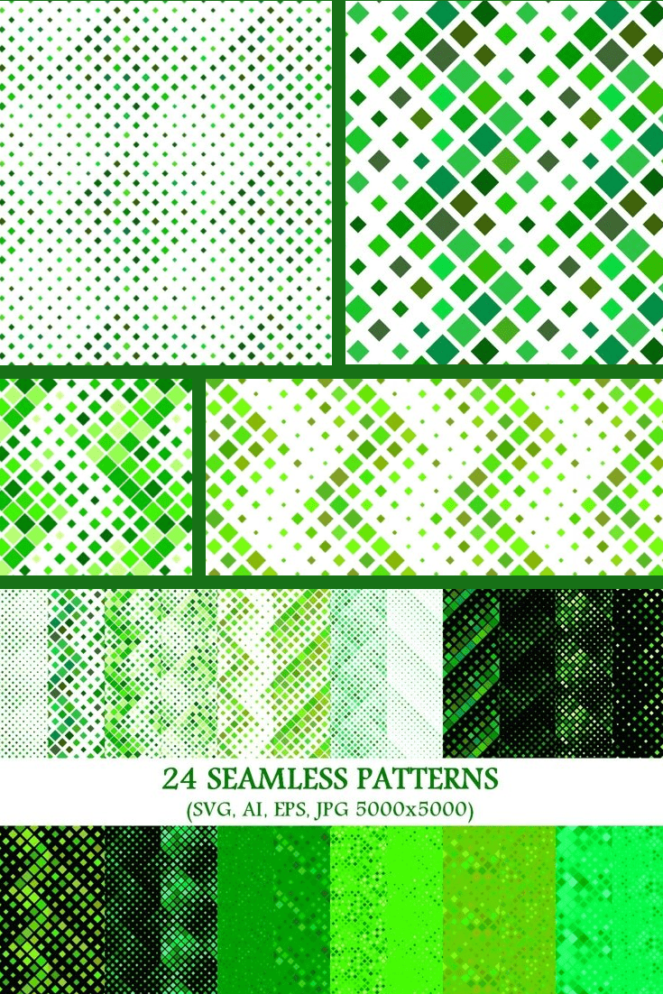 The green variegated texture - here both snakeskin and squares.