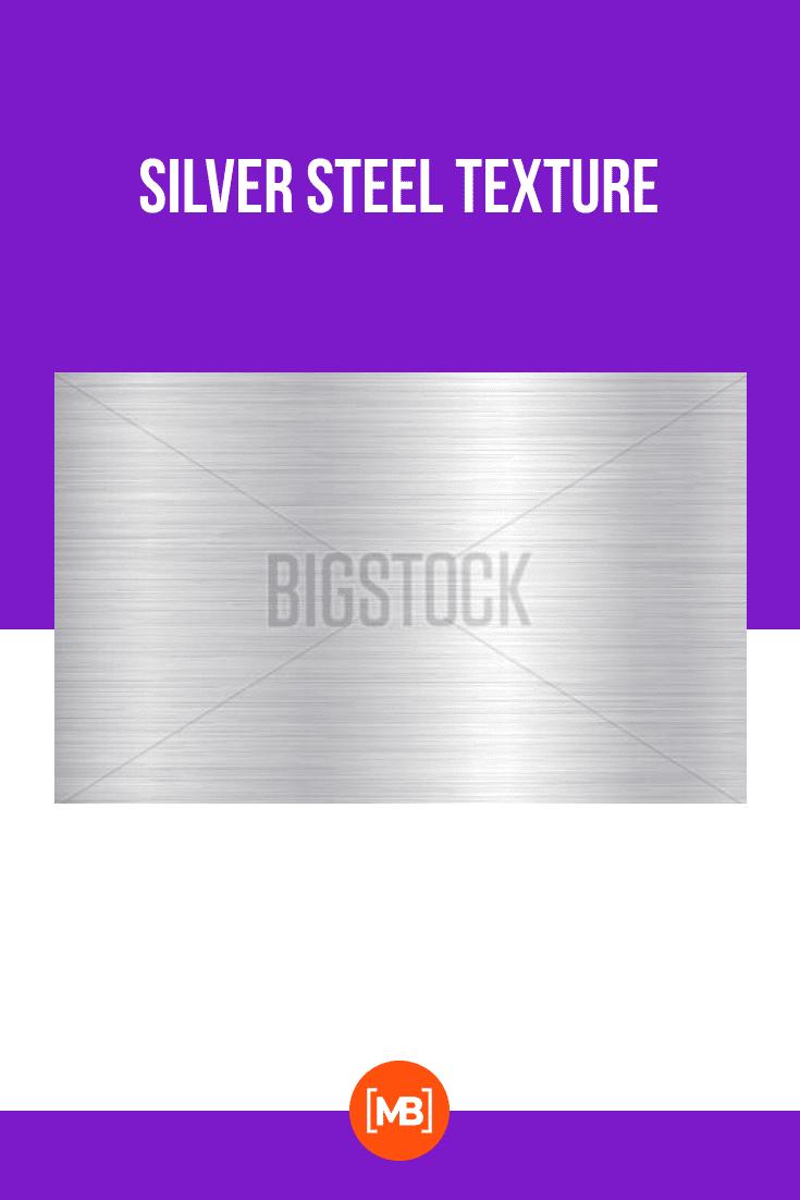 Silver steel texture.