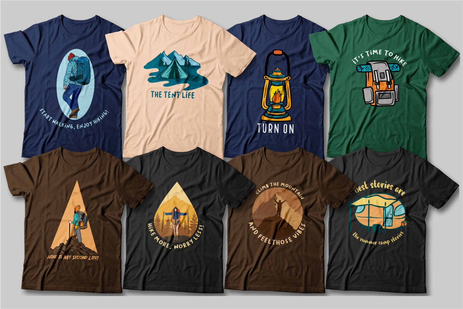 High-quality T-shirts with bright graphics for mountain lovers.