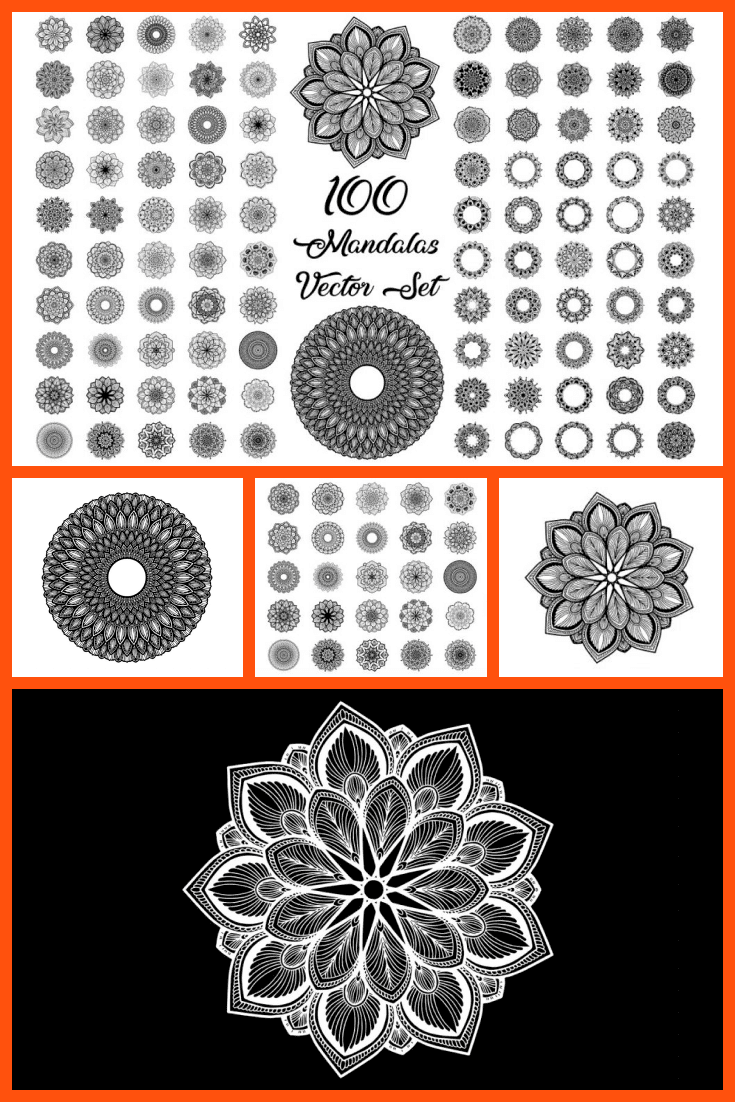 A thick mandala with many details. It fascinates with its loops and circles.