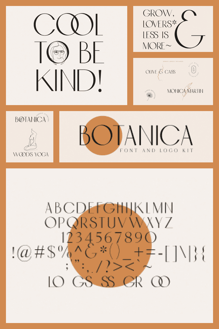 The font is created at the intersection of the new and the old. It's slim, elegant, and flexible.